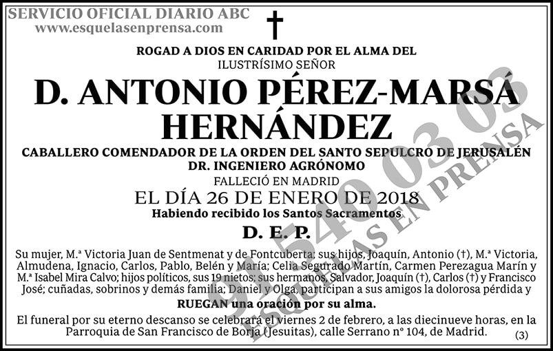 Antonio Pérez-Marsá Hernández